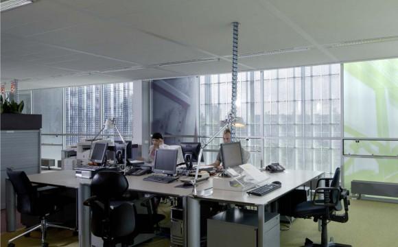 Desks in office