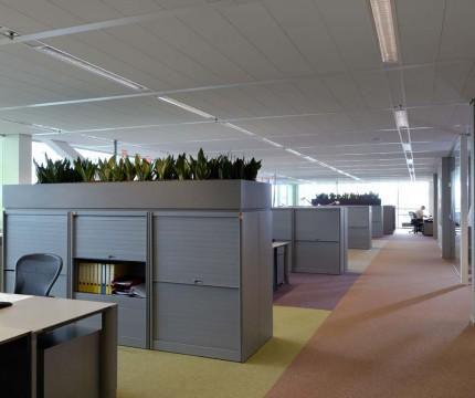 Closet in office.