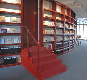Round book shelves