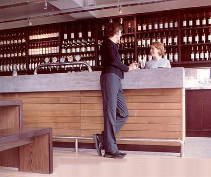 Man hanging on bar
