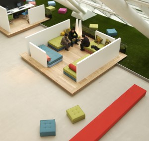Lounge area at Mexx office