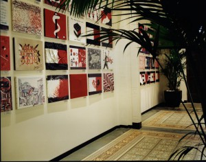 Art on the wall in Tommy Hilfiger shop