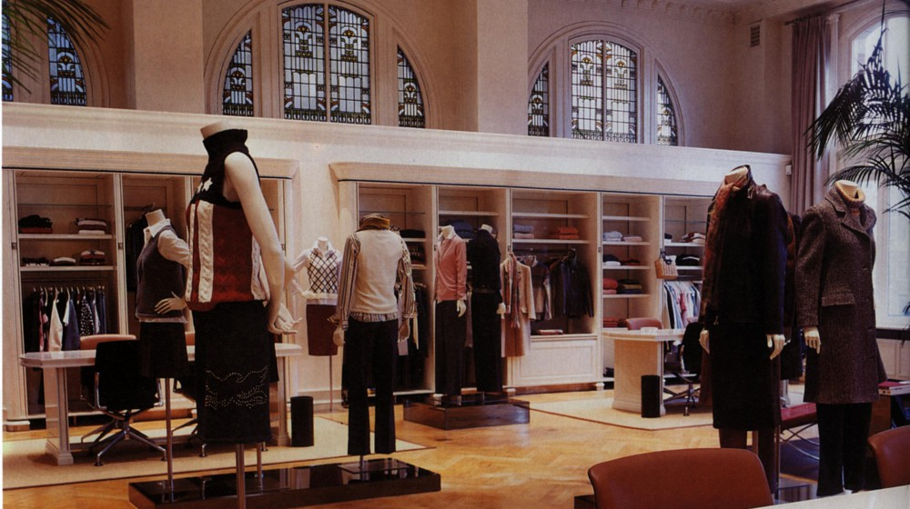 Inside of Tommy Hilfiger shop